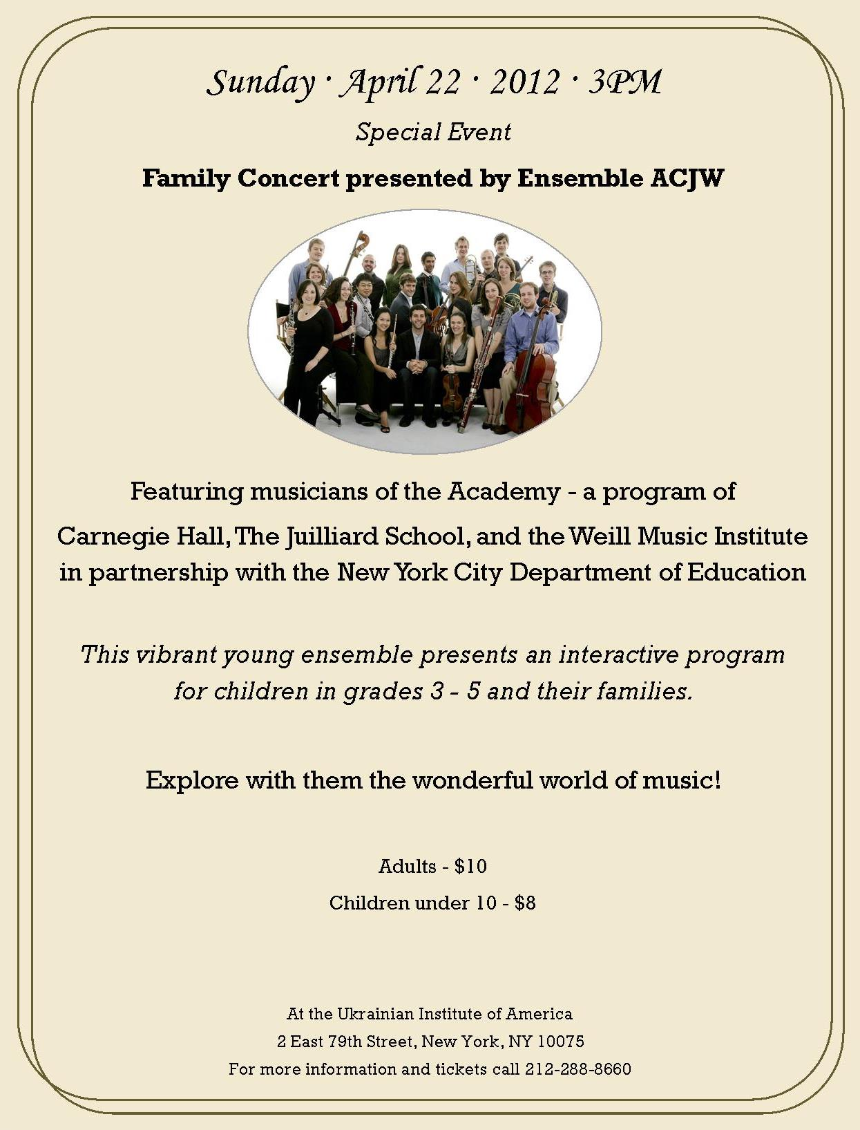 16 - Special Event. Family Concert April 22, 2012, 04.22.12