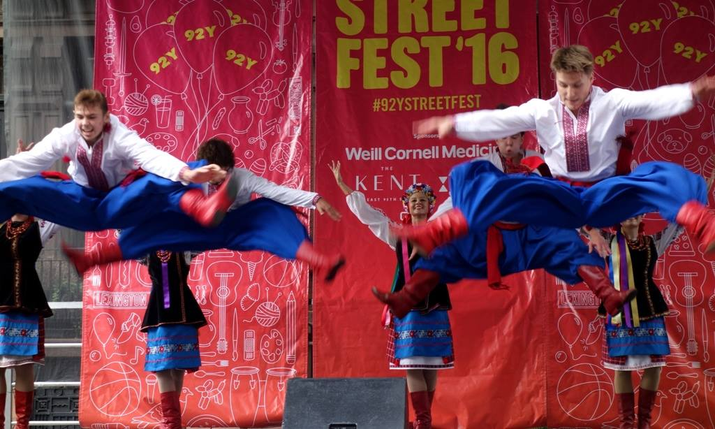 We organized the Ukrainian booth at 92nd Street Y Street Festival