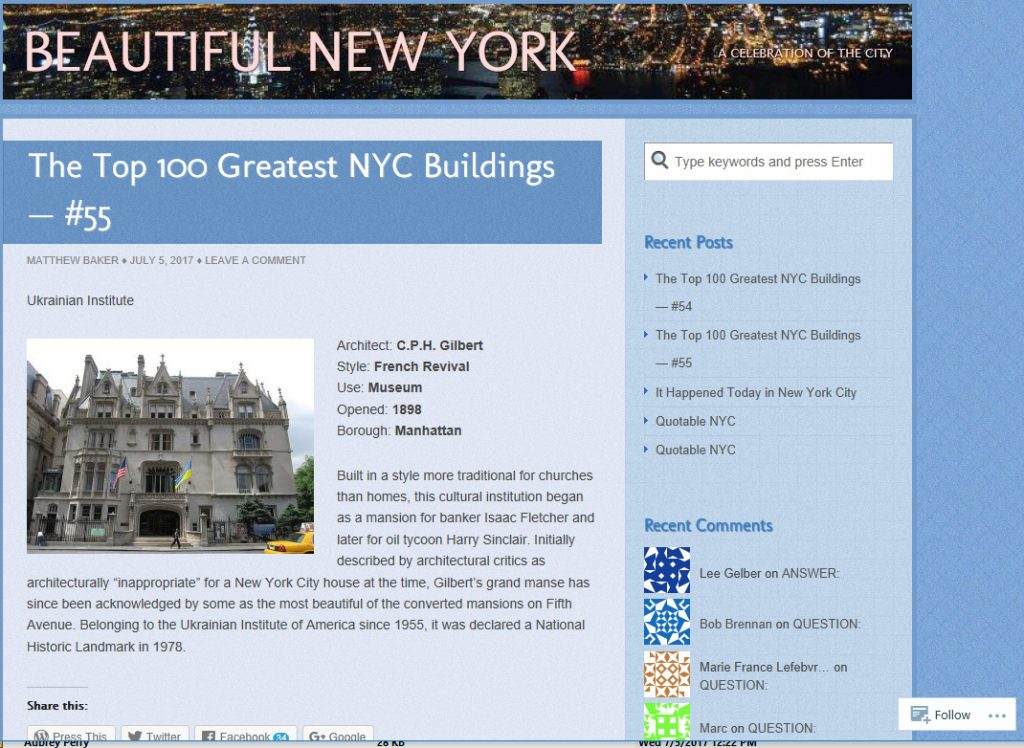 The Top 100 Greatest NYC Buildings — #55 Beautiful New York and 5 more pages ‎- Microsoft Edge 762017 41340 PM.bmp