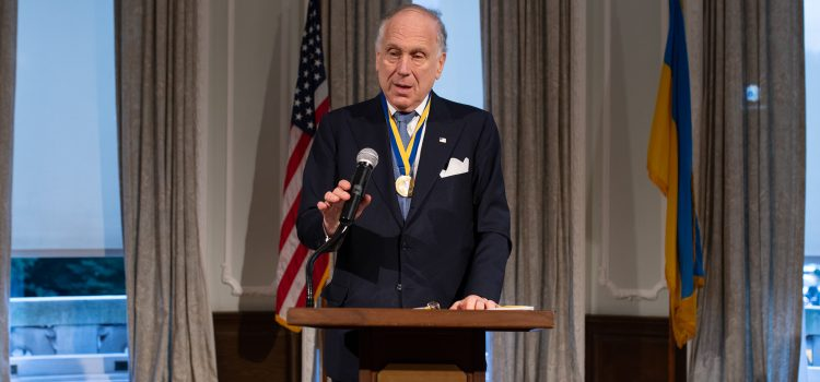 Presentation of the 2018 Metropolitan Andrei Sheptytsky Award to The Honorable Ronald S. Lauder at the Ukrainian Institute