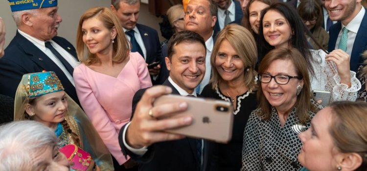 Ukrainian President Volodymyr Zelensky Meeting with Representatives of the Ukrainian-American Community at the Ukrainian Institute of America